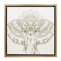 Splosh Havana Elephant Framed Canvas (34x34cm)