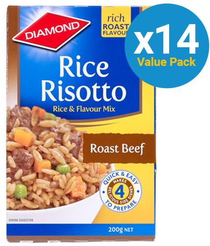 Diamond: Rice Risotto Roast Beef 200g (14 Pack)