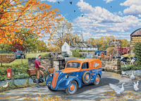 Holdson: 500 Piece XL Puzzle - The English Village S3 (Farm Services)