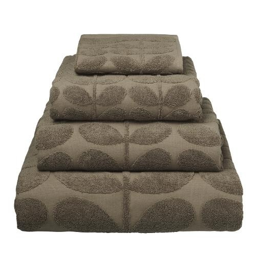 Orla Kiely Sculpted Stem Bath Sheet - Mushroom