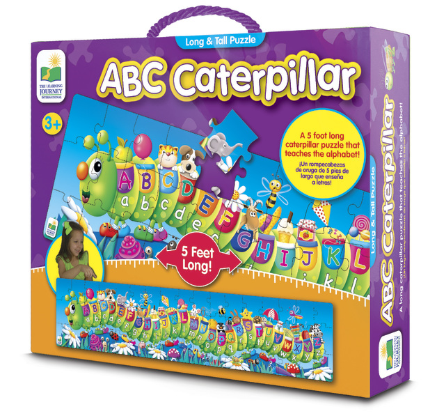 The Learning Journey: Long & Tall Puzzle - ABC Caterpillar