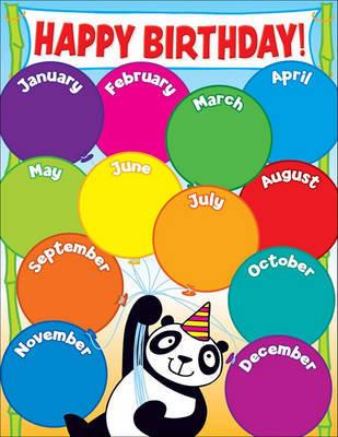 Panda Birthday Chart by Teacher's Friend image