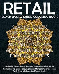 Retail Black Background Coloring Book by Pigeon Coop Coloring Co