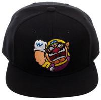 Nintendo Wario Core Black Snapback Cap