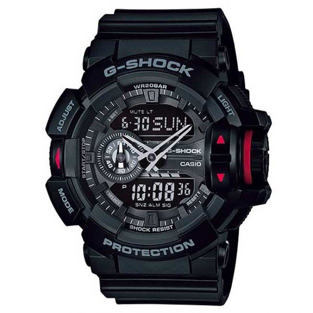 Casio G Shock Men's 52mm GA400 1B Resin Watch Black Casual Watch