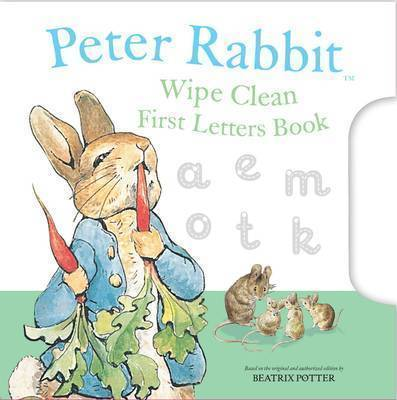Peter Rabbit Wipe Clean First Letters Book by Beatrix Potter