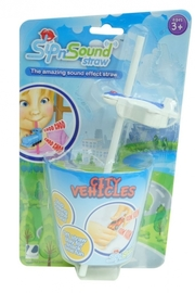 Sip N' Sound Vehicle Straw - Plane