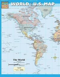 World & U.S. Map by BarCharts Inc