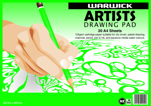 Warwick: A4 - Artists Drawing Pad