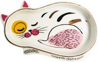 Abstract Cat Trinket Dish Sleeping (15cm)