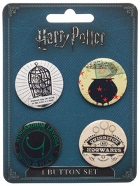 Harry Potter - Themed Button Set (4-Piece)