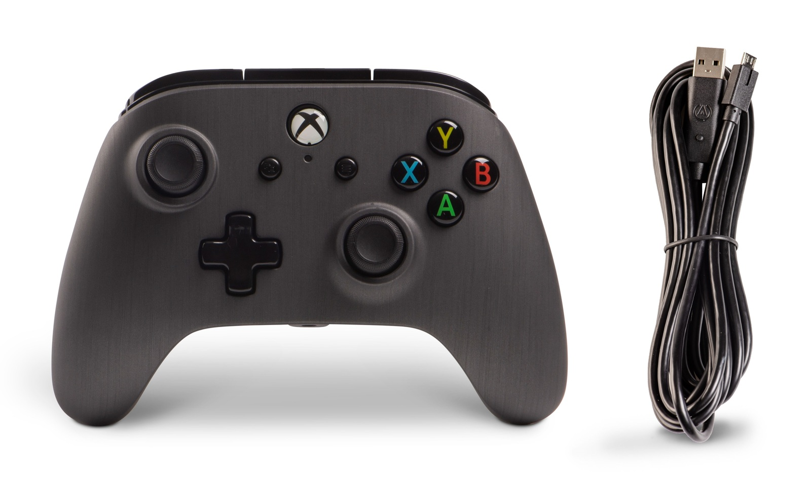 Xbox One Enhanced Wired Controller - Brushed Gunmetal for Xbox One image