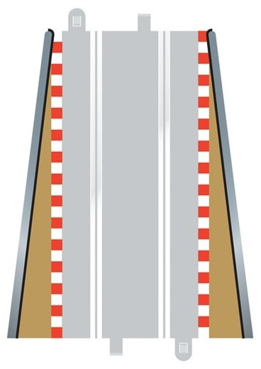 Scalextric Lead in & Lead Out Borders image