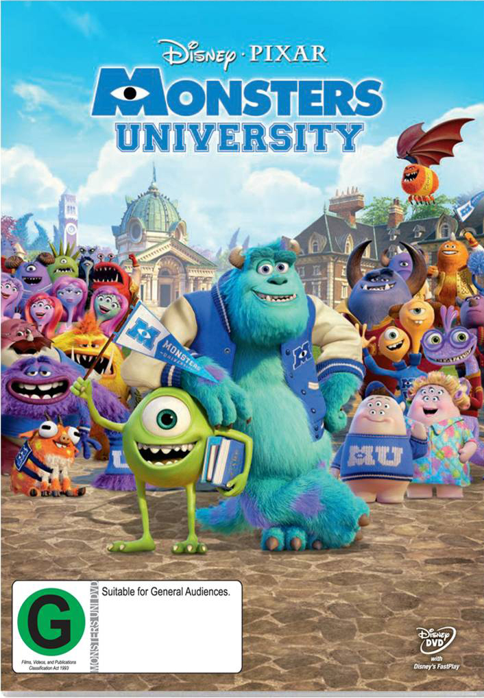 Monsters University on DVD image