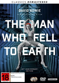 The Man Who Fell To Earth (40th Anniversary + Remastered Edition) on DVD