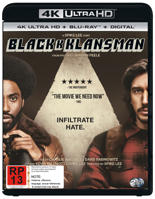 Blackkklansman on UHD Blu-ray