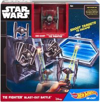 Star Wars: Hot Wheels Starships - TIE Fighter Blast-Out Battle Play Set
