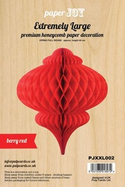 Paper Honeycomb Hanging Bauble - Berry Red (Extremely Large)