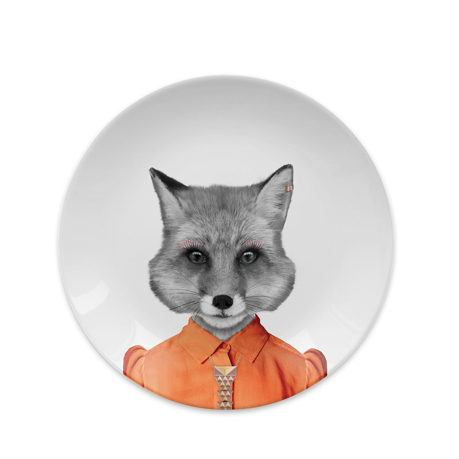 Wild Dining: Ceramic Dinner Plate - Baby Fox (18cm) image
