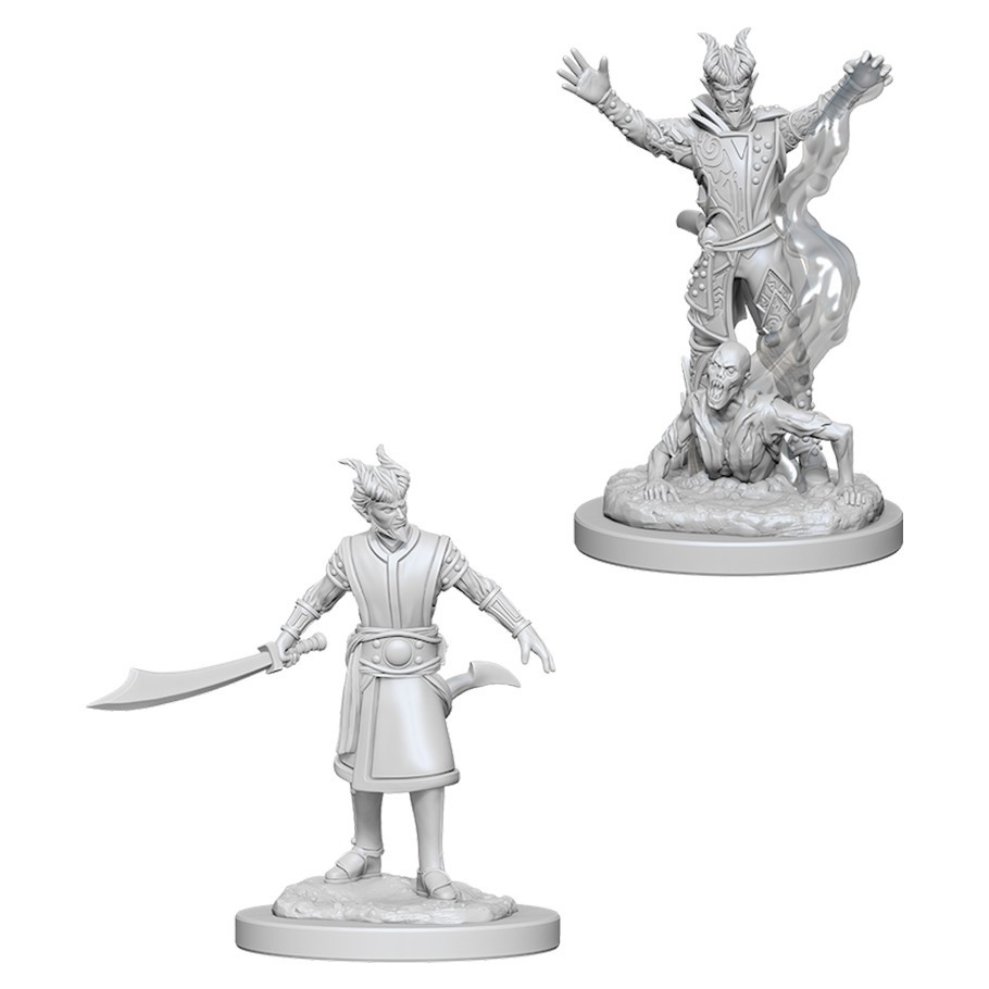 D&D Nolzurs Marvelous: Unpainted Miniatures - Male Tiefling Warlock image