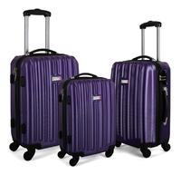 Milano Abs Luxury Shockproof Luggage - Purple (3Pcs/Set)