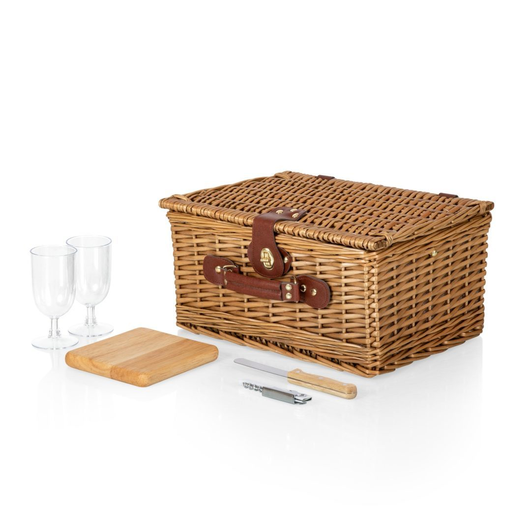 Picnic Time: Classic Wine and Cheese Basket image