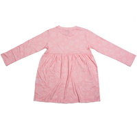 Cheeky Chimp: AOP Long Sleeved Dress - Dusty Pink (Size 7)