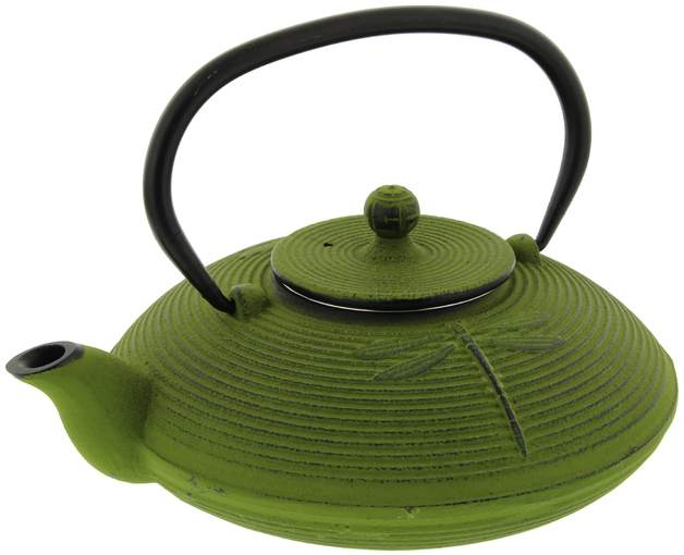 Green Dragonfly Cast Iron Teapot (770ml)