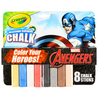 Crayola: Avengers Washable Sidewalk Chalk - Captain America