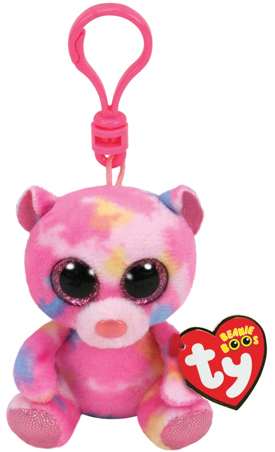 Ty Beanie Boo's: Franky Pink Bear - Clip-on Plush image