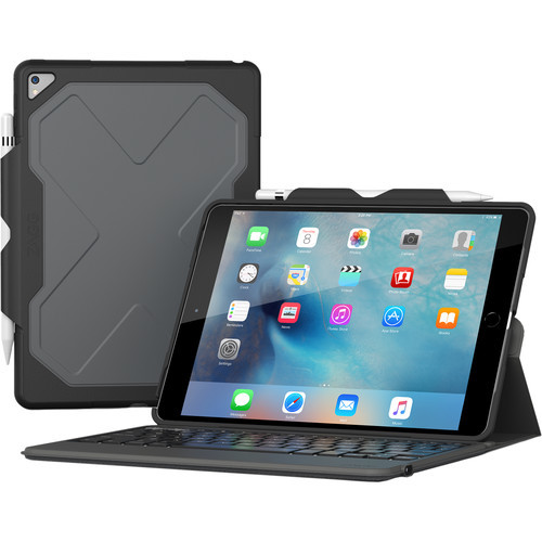 ZAGG Rugged Messenger Folio-Apple iPad Pro 10.5-Black Case-7 Color Backlit-Black-KB-US/UK English