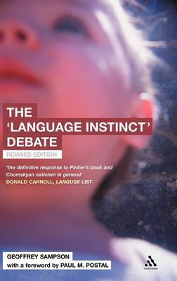 The Language Instinct Debate by Geoffrey Sampson image