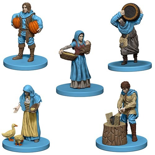 Agricola: Game Pieces - Blue