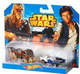 Star Wars Hot Wheels 1:64 Character Car - 2 Pack Hans Solo