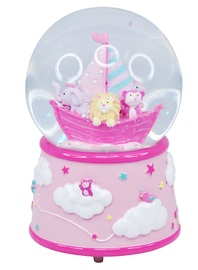 Pink Poppy: Baby Musical Snow Globe - Pale Pink