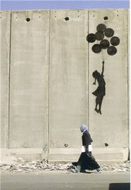 Blue Island Press Cards: Banksy - Balloon Lift Girl