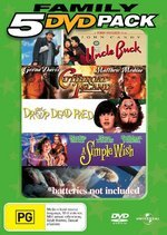 Family 5 DVD Pack (Uncle Buck / Cutthroat Island / Drop Dead Fred / A Simple Wish / Batteries Not Included) (5 Disc Set) on DVD