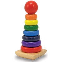 Melissa & Doug: Wooden Rainbow Stacker