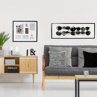 Splosh Markings Stones Framed Canvas (124x44cm)