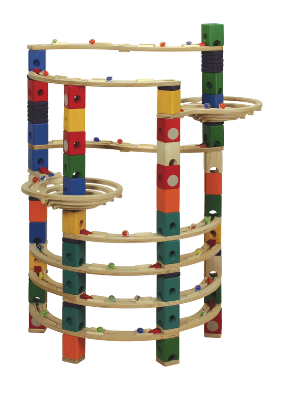Quadrilla Wood Marble Run Twist Core Set 206pc Toy