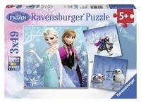 Ravensburger : Disney Winter Adventures Puz 3x49pc