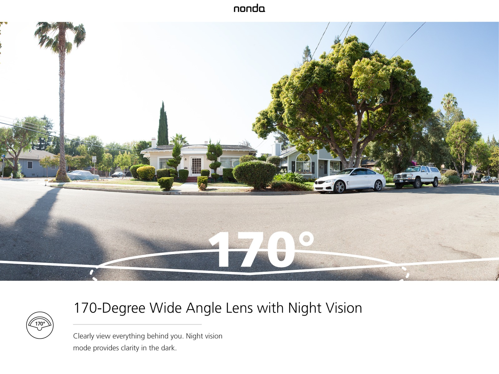 Nonda Zus Smart Backup Camera Real Wireless Rear View With Wiring 170 Degrees Wide Angle