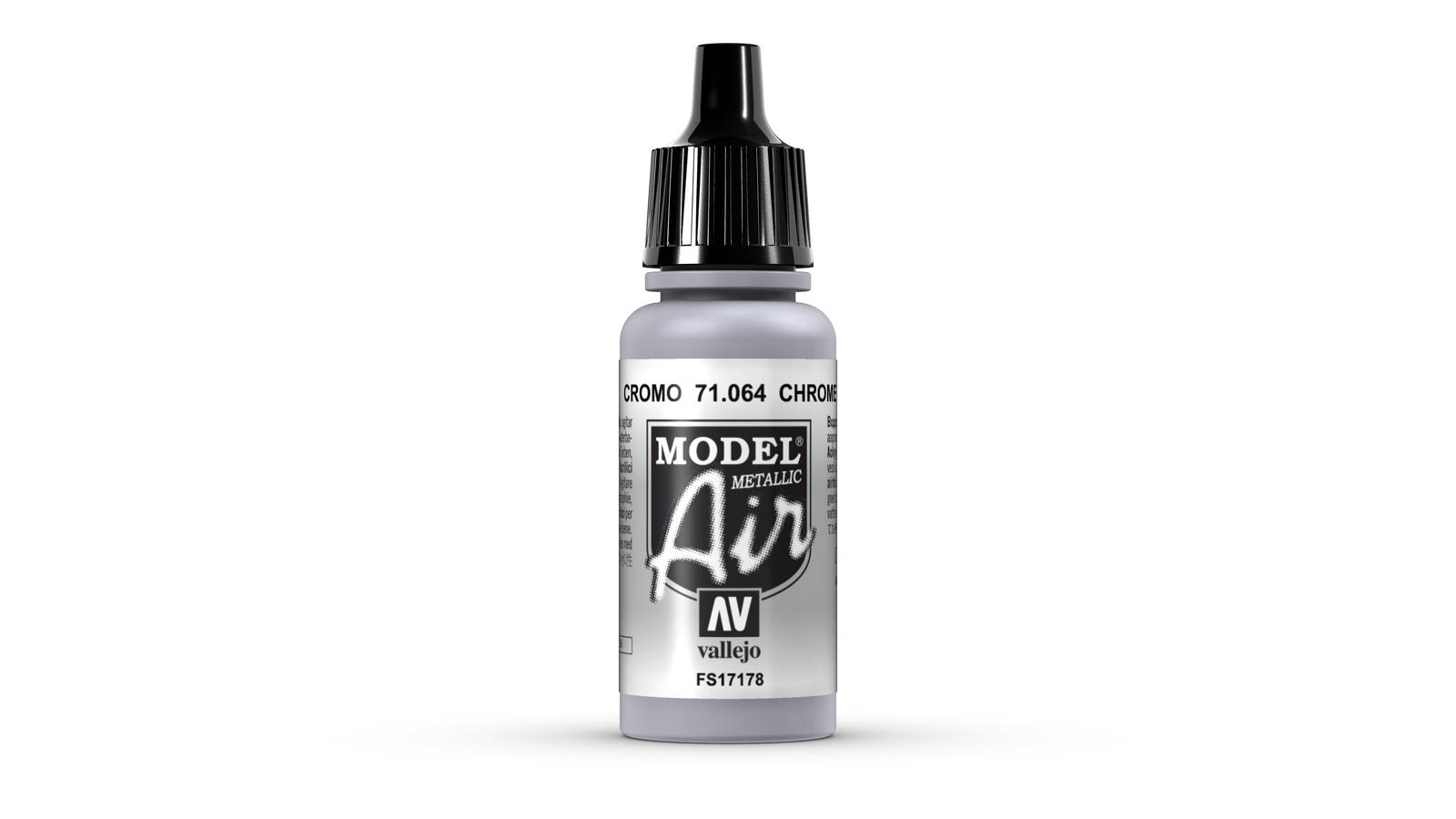 Vallejo Model Air Chrome Acrylic Paint 17ml image