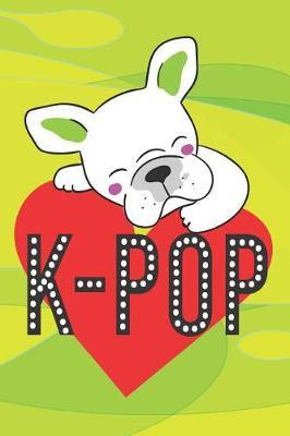 Pug Loves K-Pop A5 Korean Writing Paper K-Style Journal Notebook by K Style