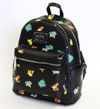Loungefly: Pokemon Starters Print - Fashion Mini Backpack