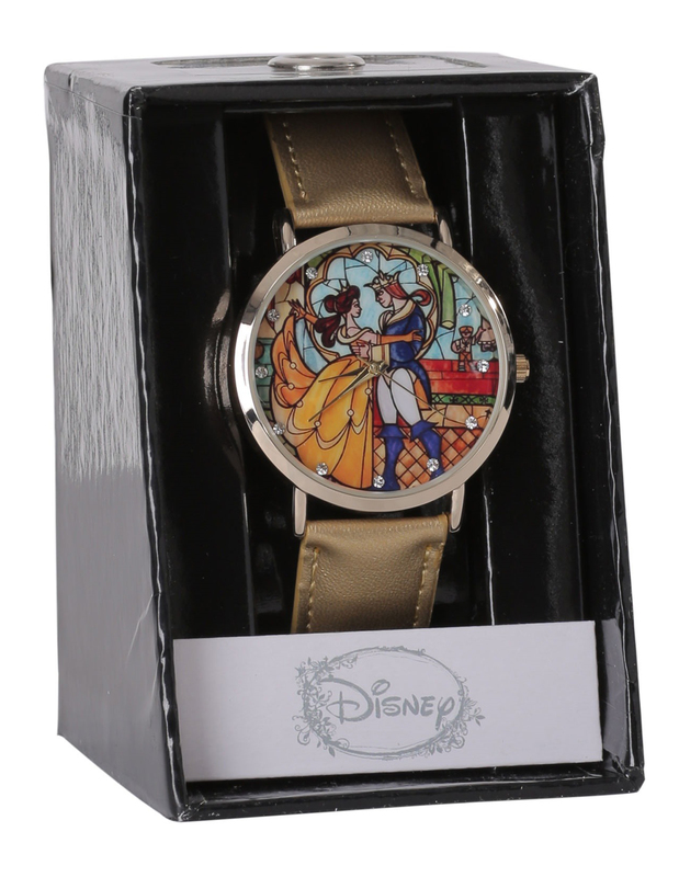 Disney: Beauty and the Beast - Stained Glass Strap Watch