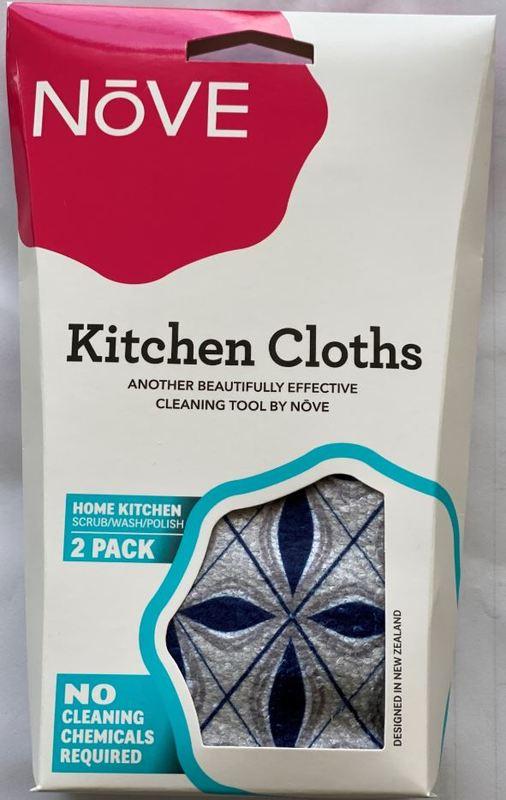 Nove Kitchen Microfibre Cloths (2 Pack)