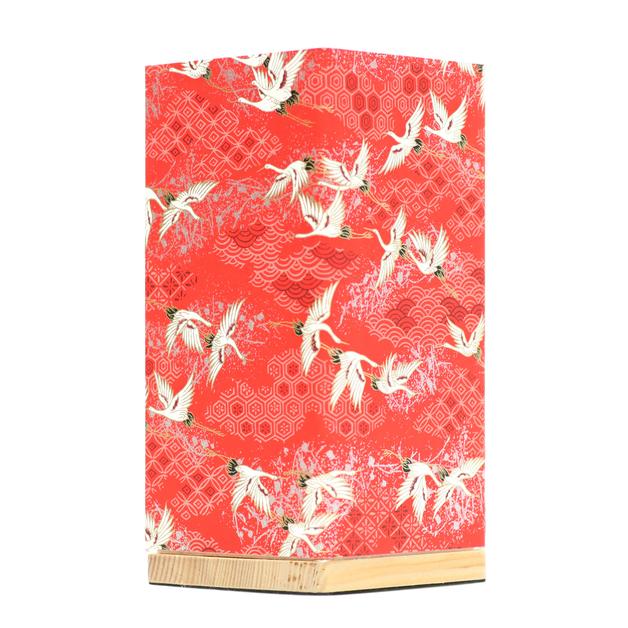 Kami Lamp Sky of Cranes (Red)