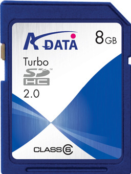 Adata Turbo Class 6 SDHC Card 8GB image