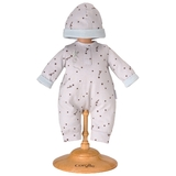 Corolle: Mon Premier Collection Grey Star Pyjamas and Hat